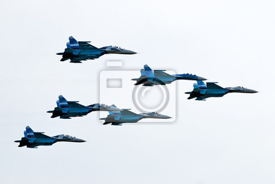 Постер Праздники Шесть самолетов Су-27, 30x20 см, на бумаге10.28 День армейской авиации<br>Постер на холсте или бумаге. Любого нужного вам размера. В раме или без. Подвес в комплекте. Трехслойная надежная упаковка. Доставим в любую точку России. Вам осталось только повесить картину на стену!<br>