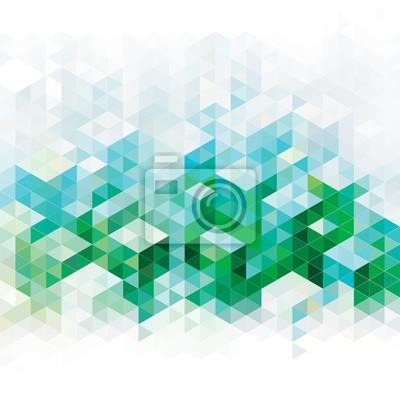 Постер-картина Пиксель-арт Абстрактных геометрических зеленый городской фон.Пиксель-арт<br>Постер на холсте или бумаге. Любого нужного вам размера. В раме или без. Подвес в комплекте. Трехслойная надежная упаковка. Доставим в любую точку России. Вам осталось только повесить картину на стену!<br>