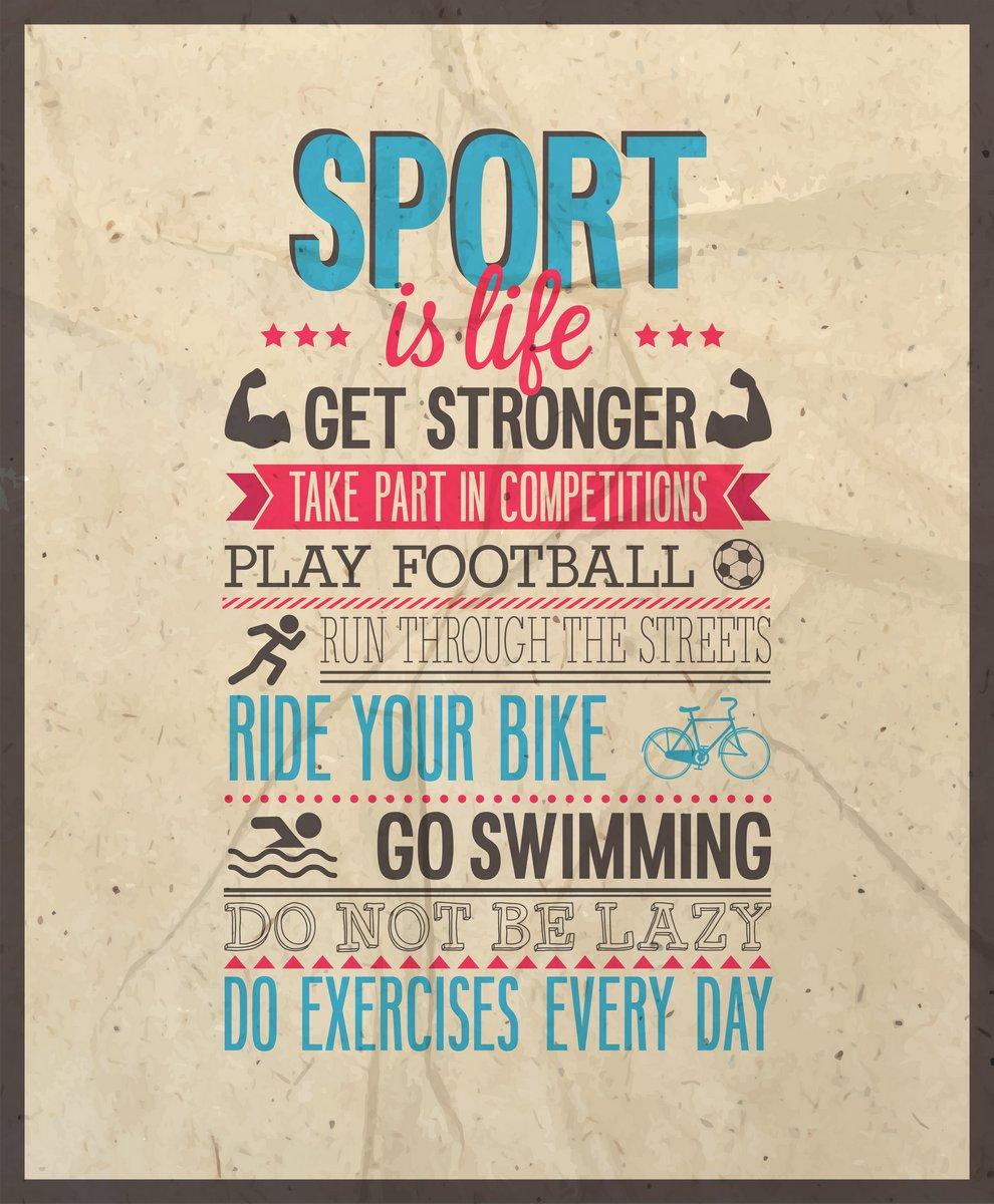 Постер Мотивационный плакат Спорт-это жизнь.Мотивационный плакат<br>Постер на холсте или бумаге. Любого нужного вам размера. В раме или без. Подвес в комплекте. Трехслойная надежная упаковка. Доставим в любую точку России. Вам осталось только повесить картину на стену!<br>