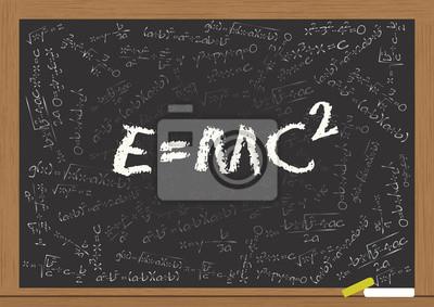 Постер E=mc2Формула Эйнштейна<br>Постер на холсте или бумаге. Любого нужного вам размера. В раме или без. Подвес в комплекте. Трехслойная надежная упаковка. Доставим в любую точку России. Вам осталось только повесить картину на стену!<br>