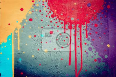 Постер-картина Стрит-арт Мюр-де-граффити t?ches де peintureСтрит-арт<br>Постер на холсте или бумаге. Любого нужного вам размера. В раме или без. Подвес в комплекте. Трехслойная надежная упаковка. Доставим в любую точку России. Вам осталось только повесить картину на стену!<br>
