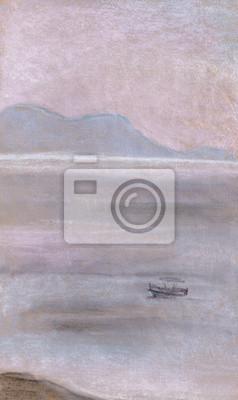 Пейзаж современный морской ЛодкаПейзаж современный морской<br>Репродукция на холсте или бумаге. Любого нужного вам размера. В раме или без. Подвес в комплекте. Трехслойная надежная упаковка. Доставим в любую точку России. Вам осталось только повесить картину на стену!<br>