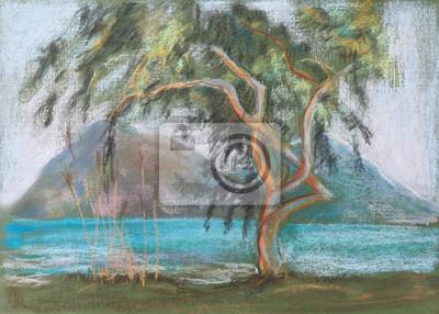 Средиземноморье, современный пейзаж Большие Бент деревоСредиземноморье, современный пейзаж<br>Репродукция на холсте или бумаге. Любого нужного вам размера. В раме или без. Подвес в комплекте. Трехслойная надежная упаковка. Доставим в любую точку России. Вам осталось только повесить картину на стену!<br>