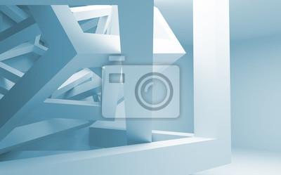 Постер-картина Фото-постеры Голубые и белые абстрактные 3D интерьер с хаотично строительство, 32x20 см, на бумагеМинимализм<br>Постер на холсте или бумаге. Любого нужного вам размера. В раме или без. Подвес в комплекте. Трехслойная надежная упаковка. Доставим в любую точку России. Вам осталось только повесить картину на стену!<br>