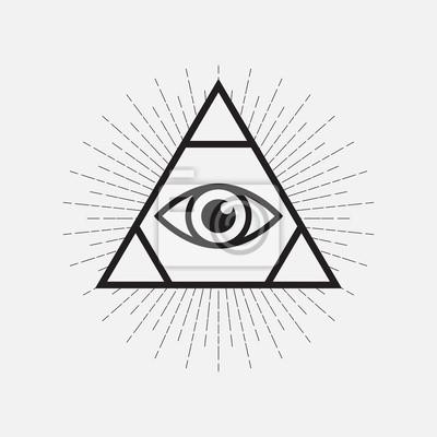 Постер-картина Минимализм Всевидящее око-символ, треугольник с лучамиМинимализм<br>Постер на холсте или бумаге. Любого нужного вам размера. В раме или без. Подвес в комплекте. Трехслойная надежная упаковка. Доставим в любую точку России. Вам осталось только повесить картину на стену!<br>