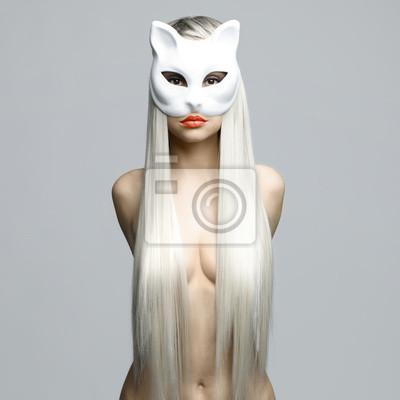 Сексуальная блондинка в кошачьей маске, 20x20 см, на бумагеФотоэротика<br>Постер на холсте или бумаге. Любого нужного вам размера. В раме или без. Подвес в комплекте. Трехслойная надежная упаковка. Доставим в любую точку России. Вам осталось только повесить картину на стену!<br>
