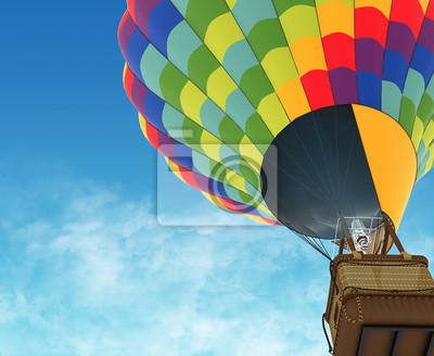 Постер-картина Воздушные шары Красивый воздушный шар на фоне глубокого голубого неба.Воздушные шары<br>Постер на холсте или бумаге. Любого нужного вам размера. В раме или без. Подвес в комплекте. Трехслойная надежная упаковка. Доставим в любую точку России. Вам осталось только повесить картину на стену!<br>