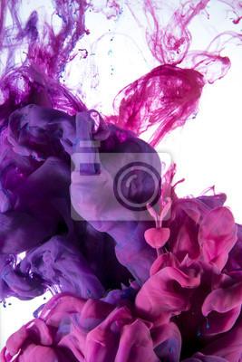 Постер Цвет чернил капля, фиолетовый и розовыйТанец краски под водой<br>Постер на холсте или бумаге. Любого нужного вам размера. В раме или без. Подвес в комплекте. Трехслойная надежная упаковка. Доставим в любую точку России. Вам осталось только повесить картину на стену!<br>