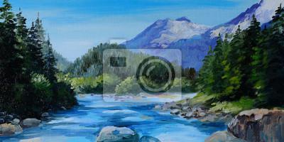 Пейзажи Постер 74207921, 40x20 см, на бумагеПейзаж горный в современной живописи<br>Постер на холсте или бумаге. Любого нужного вам размера. В раме или без. Подвес в комплекте. Трехслойная надежная упаковка. Доставим в любую точку России. Вам осталось только повесить картину на стену!<br>