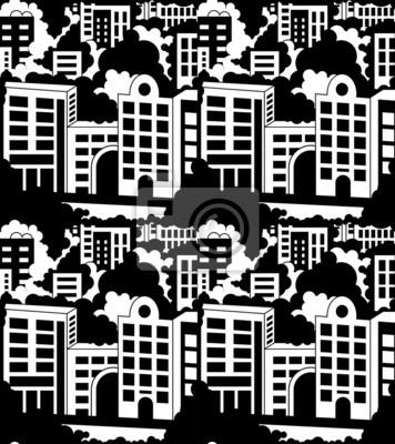Постер Современный городской пейзаж Город бесшовныеСовременный городской пейзаж<br>Постер на холсте или бумаге. Любого нужного вам размера. В раме или без. Подвес в комплекте. Трехслойная надежная упаковка. Доставим в любую точку России. Вам осталось только повесить картину на стену!<br>
