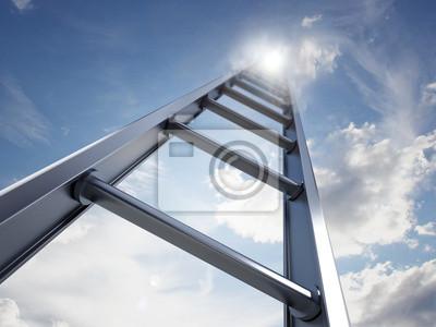 Постер Лестница успехаЛестница в небо<br>Постер на холсте или бумаге. Любого нужного вам размера. В раме или без. Подвес в комплекте. Трехслойная надежная упаковка. Доставим в любую точку России. Вам осталось только повесить картину на стену!<br>