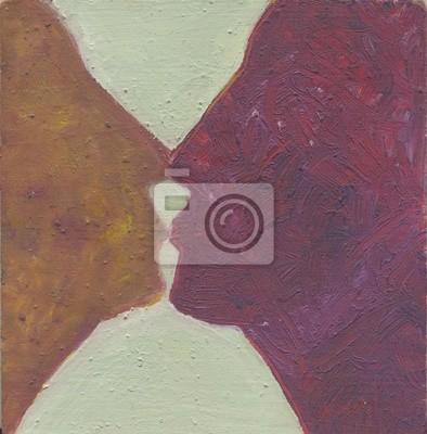 Поцелуй, 20x20 см, на бумагеРомантика в современной живописи<br>Постер на холсте или бумаге. Любого нужного вам размера. В раме или без. Подвес в комплекте. Трехслойная надежная упаковка. Доставим в любую точку России. Вам осталось только повесить картину на стену!<br>