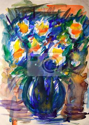 Цветы в современной живописи, картина Акварельной живописи абстрактные цветы.Цветы в современной живописи<br>Репродукция на холсте или бумаге. Любого нужного вам размера. В раме или без. Подвес в комплекте. Трехслойная надежная упаковка. Доставим в любую точку России. Вам осталось только повесить картину на стену!<br>