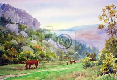 Пейзажи Постер 75990673, 29x20 см, на бумагеПейзаж горный в современной живописи<br>Постер на холсте или бумаге. Любого нужного вам размера. В раме или без. Подвес в комплекте. Трехслойная надежная упаковка. Доставим в любую точку России. Вам осталось только повесить картину на стену!<br>