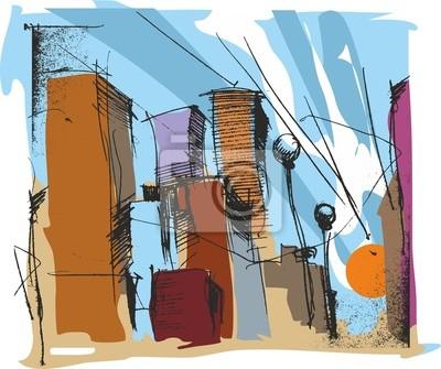 Постер Современный городской пейзаж Вектор-146-СитиСовременный городской пейзаж<br>Постер на холсте или бумаге. Любого нужного вам размера. В раме или без. Подвес в комплекте. Трехслойная надежная упаковка. Доставим в любую точку России. Вам осталось только повесить картину на стену!<br>