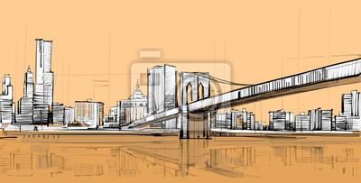 Постер Современный городской пейзаж Американский ПейзажСовременный городской пейзаж<br>Постер на холсте или бумаге. Любого нужного вам размера. В раме или без. Подвес в комплекте. Трехслойная надежная упаковка. Доставим в любую точку России. Вам осталось только повесить картину на стену!<br>