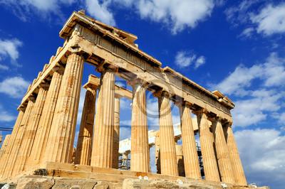 Постер Афины, Акрополь Парфенон на Акрополе в АфинахАфины, Акрополь<br>Постер на холсте или бумаге. Любого нужного вам размера. В раме или без. Подвес в комплекте. Трехслойная надежная упаковка. Доставим в любую точку России. Вам осталось только повесить картину на стену!<br>