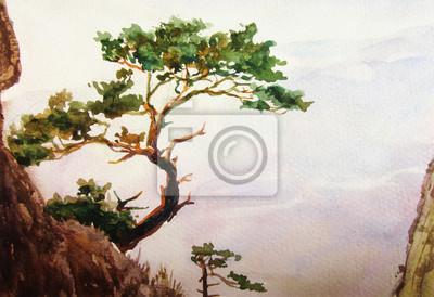 Пейзажи Постер 77201515, 29x20 см, на бумагеПейзаж горный в современной живописи<br>Постер на холсте или бумаге. Любого нужного вам размера. В раме или без. Подвес в комплекте. Трехслойная надежная упаковка. Доставим в любую точку России. Вам осталось только повесить картину на стену!<br>