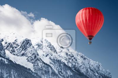 Постер-картина Фото-постеры Воздушный шар над зимний пейзаж, 30x20 см, на бумагеВоздушные шары<br>Постер на холсте или бумаге. Любого нужного вам размера. В раме или без. Подвес в комплекте. Трехслойная надежная упаковка. Доставим в любую точку России. Вам осталось только повесить картину на стену!<br>
