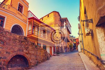 Постер Тбилиси Old quarter in Tbilisi city, Georgia countryТбилиси<br>Постер на холсте или бумаге. Любого нужного вам размера. В раме или без. Подвес в комплекте. Трехслойная надежная упаковка. Доставим в любую точку России. Вам осталось только повесить картину на стену!<br>