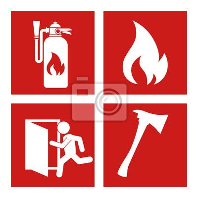 Постер Пожарная безопасность Чрезвычайных дизайна, векторные иллюстрации.Пожарная безопасность<br>Постер на холсте или бумаге. Любого нужного вам размера. В раме или без. Подвес в комплекте. Трехслойная надежная упаковка. Доставим в любую точку России. Вам осталось только повесить картину на стену!<br>