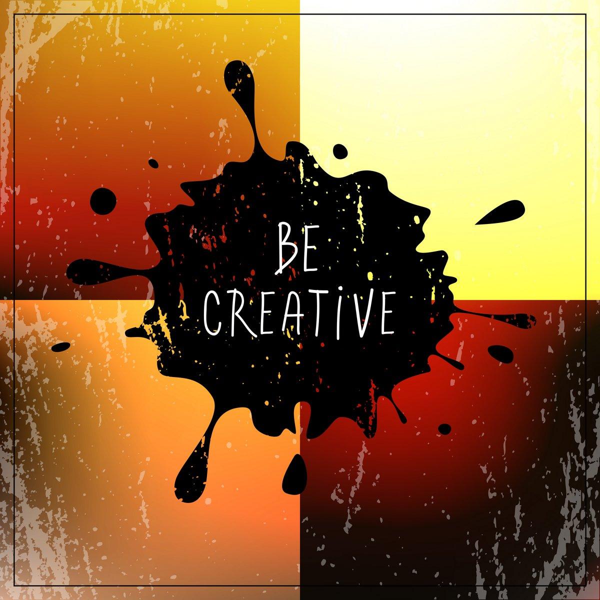 Постер-картина Мотивационный плакат Будьте изобретательны Цитата, типаМотивационный плакат<br>Постер на холсте или бумаге. Любого нужного вам размера. В раме или без. Подвес в комплекте. Трехслойная надежная упаковка. Доставим в любую точку России. Вам осталось только повесить картину на стену!<br>