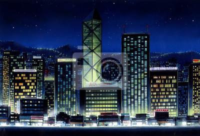 Постер Современный городской пейзаж