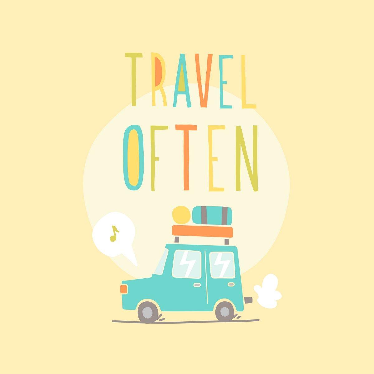 Постер Мотивационный плакат Путешествую часто. Дорожное путешествие.Мотивационный плакат<br>Постер на холсте или бумаге. Любого нужного вам размера. В раме или без. Подвес в комплекте. Трехслойная надежная упаковка. Доставим в любую точку России. Вам осталось только повесить картину на стену!<br>
