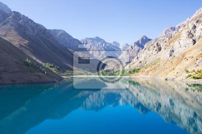 Постер Фанские горы Горы красивое озеро в Средней Азии, TajilistanФанские горы<br>Постер на холсте или бумаге. Любого нужного вам размера. В раме или без. Подвес в комплекте. Трехслойная надежная упаковка. Доставим в любую точку России. Вам осталось только повесить картину на стену!<br>
