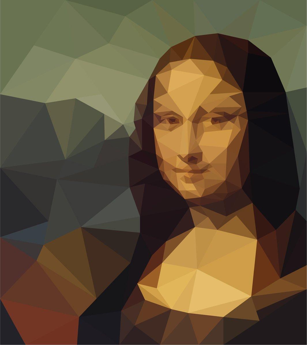 Постер-картина Пиксель-арт Полигональные Мона Лиза портретПиксель-арт<br>Постер на холсте или бумаге. Любого нужного вам размера. В раме или без. Подвес в комплекте. Трехслойная надежная упаковка. Доставим в любую точку России. Вам осталось только повесить картину на стену!<br>
