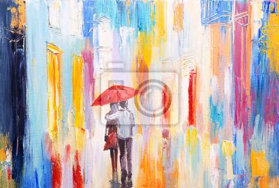 Постер Дождь Пара ходить в дождь под зонтом, реферат тДождь<br>Постер на холсте или бумаге. Любого нужного вам размера. В раме или без. Подвес в комплекте. Трехслойная надежная упаковка. Доставим в любую точку России. Вам осталось только повесить картину на стену!<br>