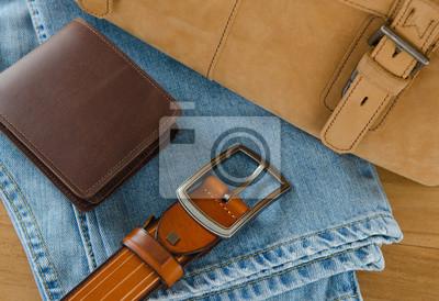 Случайные аксессуары для мужчин, 29x20 см, на бумагеМужской стиль, сумки<br>Постер на холсте или бумаге. Любого нужного вам размера. В раме или без. Подвес в комплекте. Трехслойная надежная упаковка. Доставим в любую точку России. Вам осталось только повесить картину на стену!<br>