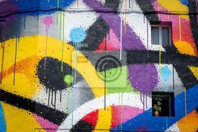 Постер-картина Стрит-арт Граффити цвета вивесСтрит-арт<br>Постер на холсте или бумаге. Любого нужного вам размера. В раме или без. Подвес в комплекте. Трехслойная надежная упаковка. Доставим в любую точку России. Вам осталось только повесить картину на стену!<br>