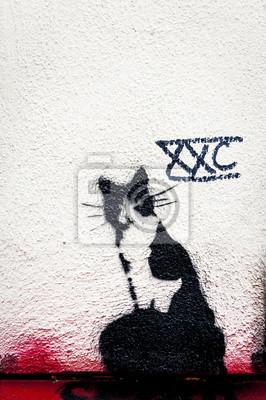 Постер-картина Стрит-арт Граффити чатСтрит-арт<br>Постер на холсте или бумаге. Любого нужного вам размера. В раме или без. Подвес в комплекте. Трехслойная надежная упаковка. Доставим в любую точку России. Вам осталось только повесить картину на стену!<br>