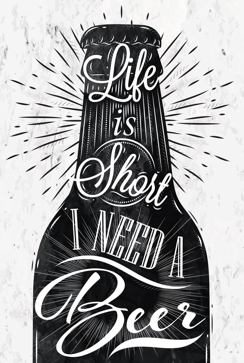 Постер-картина Мотивационный плакат Постер Винтаж пиваМотивационный плакат<br>Постер на холсте или бумаге. Любого нужного вам размера. В раме или без. Подвес в комплекте. Трехслойная надежная упаковка. Доставим в любую точку России. Вам осталось только повесить картину на стену!<br>