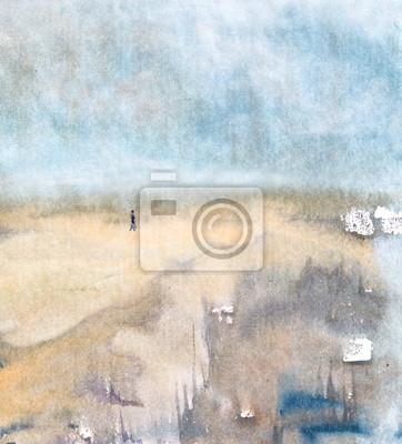 Пейзаж современный морской Одинокого путникаПейзаж современный морской<br>Репродукция на холсте или бумаге. Любого нужного вам размера. В раме или без. Подвес в комплекте. Трехслойная надежная упаковка. Доставим в любую точку России. Вам осталось только повесить картину на стену!<br>