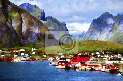Средиземноморье, современный пейзаж Скандинавский пейзажСредиземноморье, современный пейзаж<br>Репродукция на холсте или бумаге. Любого нужного вам размера. В раме или без. Подвес в комплекте. Трехслойная надежная упаковка. Доставим в любую точку России. Вам осталось только повесить картину на стену!<br>