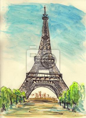 Постер Современный городской пейзаж Париж Эйфелева башня эскизСовременный городской пейзаж<br>Постер на холсте или бумаге. Любого нужного вам размера. В раме или без. Подвес в комплекте. Трехслойная надежная упаковка. Доставим в любую точку России. Вам осталось только повесить картину на стену!<br>