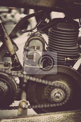 Постер-картина Мотоциклы Двигатель мотоциклаМотоциклы<br>Постер на холсте или бумаге. Любого нужного вам размера. В раме или без. Подвес в комплекте. Трехслойная надежная упаковка. Доставим в любую точку России. Вам осталось только повесить картину на стену!<br>