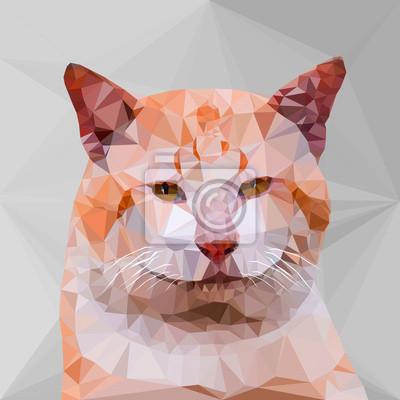 Постер-картина Полигональный арт Низкий поли геометрический кошкиПолигональный арт<br>Постер на холсте или бумаге. Любого нужного вам размера. В раме или без. Подвес в комплекте. Трехслойная надежная упаковка. Доставим в любую точку России. Вам осталось только повесить картину на стену!<br>