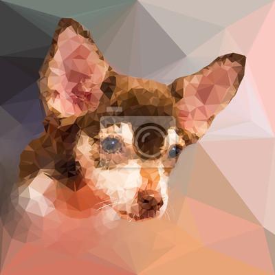 Постер-картина Полигональный арт Низкий поли геометрический портрет собаки chihuahuПолигональный арт<br>Постер на холсте или бумаге. Любого нужного вам размера. В раме или без. Подвес в комплекте. Трехслойная надежная упаковка. Доставим в любую точку России. Вам осталось только повесить картину на стену!<br>