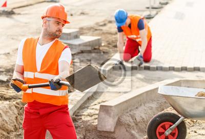 Постер Строительные рабочие