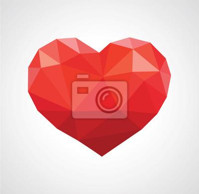 Постер-картина Полигональный арт Красное сердце в любви абстрактный низкополигональнаяПолигональный арт<br>Постер на холсте или бумаге. Любого нужного вам размера. В раме или без. Подвес в комплекте. Трехслойная надежная упаковка. Доставим в любую точку России. Вам осталось только повесить картину на стену!<br>