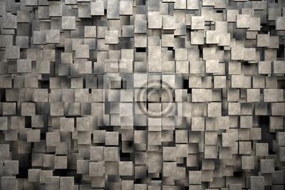 Постер-картина Минимализм Поля коричневые квадратные плиты с каменной текстурой. 3D визуализации изображенияМинимализм<br>Постер на холсте или бумаге. Любого нужного вам размера. В раме или без. Подвес в комплекте. Трехслойная надежная упаковка. Доставим в любую точку России. Вам осталось только повесить картину на стену!<br>