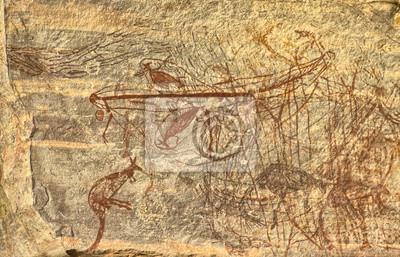 Постер Древних Аборигенов Рок РисованиеНаскальные рисунки<br>Постер на холсте или бумаге. Любого нужного вам размера. В раме или без. Подвес в комплекте. Трехслойная надежная упаковка. Доставим в любую точку России. Вам осталось только повесить картину на стену!<br>