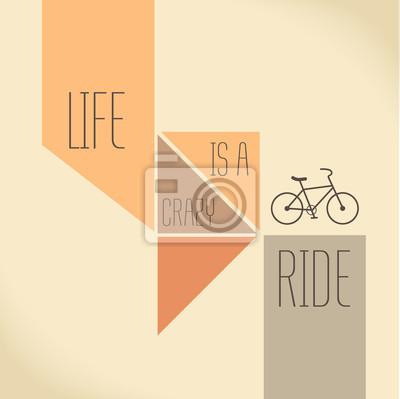 Постер-картина Мотивационный плакат Цитата мотивации - жизнь-сумасшедшая поездкаМотивационный плакат<br>Постер на холсте или бумаге. Любого нужного вам размера. В раме или без. Подвес в комплекте. Трехслойная надежная упаковка. Доставим в любую точку России. Вам осталось только повесить картину на стену!<br>