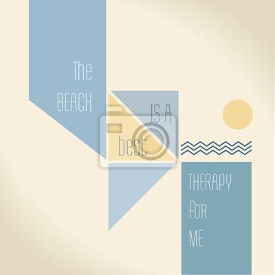 Постер-картина Мотивационный плакат Цитата мотивации - пляж является лучшей терапией для меняМотивационный плакат<br>Постер на холсте или бумаге. Любого нужного вам размера. В раме или без. Подвес в комплекте. Трехслойная надежная упаковка. Доставим в любую точку России. Вам осталось только повесить картину на стену!<br>