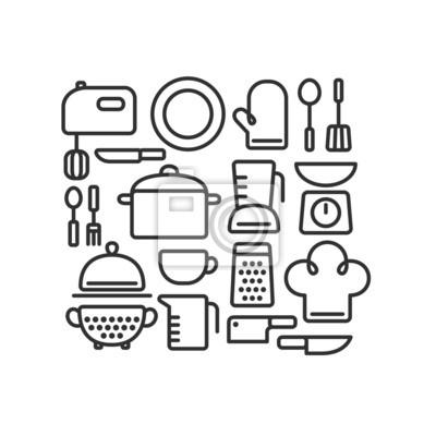 Постер-картина Минимализм Совокупность изложенных посуда и различные кухонные связанных объектов.Минимализм<br>Постер на холсте или бумаге. Любого нужного вам размера. В раме или без. Подвес в комплекте. Трехслойная надежная упаковка. Доставим в любую точку России. Вам осталось только повесить картину на стену!<br>