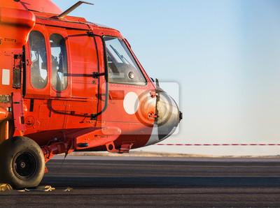 Постер-картина Вертолеты Оранжевый военный вертолетВертолеты<br>Постер на холсте или бумаге. Любого нужного вам размера. В раме или без. Подвес в комплекте. Трехслойная надежная упаковка. Доставим в любую точку России. Вам осталось только повесить картину на стену!<br>