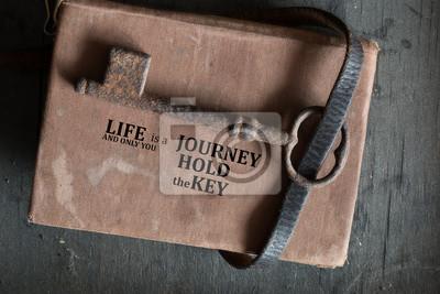 Постер-картина Мотивационный плакат Жизнь-это путешествие, и только ты держишь ключ.Мотивационный плакат<br>Постер на холсте или бумаге. Любого нужного вам размера. В раме или без. Подвес в комплекте. Трехслойная надежная упаковка. Доставим в любую точку России. Вам осталось только повесить картину на стену!<br>